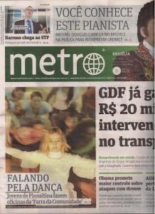 Farra da Comunidade no Jornal Metro de Brasilia